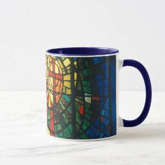 Beflecktes Glas-christliche Querkaffee-Tassenkunst Tasse