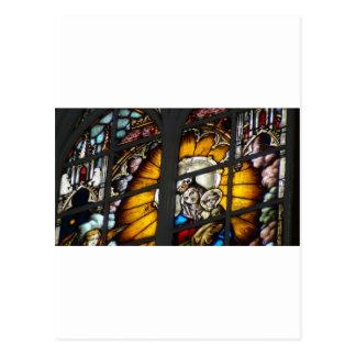 Beflecktes Glas Jesus und Jungfrau Mary Postkarte