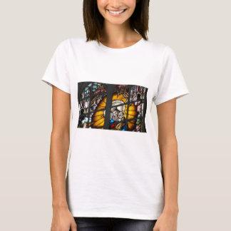 Beflecktes Glas-Jungfrau Mary und Jesus T-Shirt