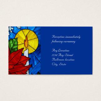 Beflecktes Glas-Kerzen-Hochzeits-Empfangs-Karten Visitenkarte