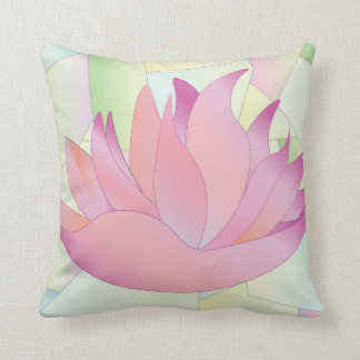 Beflecktes Glas-Lotos-Blumen-Kissen Kissen