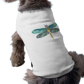 Beflecktes Glas-u. Ohrschnecken-Muschel-Libelle T-Shirt