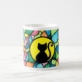 Beflecktes GlasWatercolorkitty-Tasse Kaffeetasse