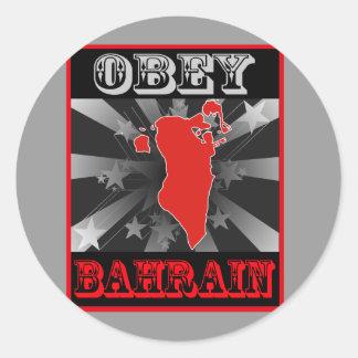 Befolgen Sie Bahrain Runder Aufkleber