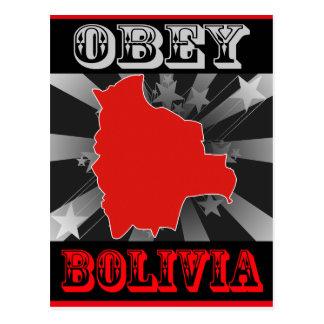 Befolgen Sie Bolivien Postkarte