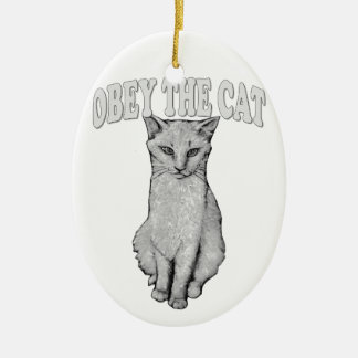 Befolgen Sie die Katze Keramik Ornament
