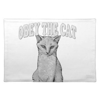 Befolgen Sie die Katze Tischset