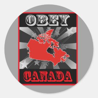 Befolgen Sie Kanada Runder Aufkleber