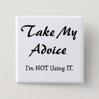 Befolgen Sie meinen Rat, ich verwenden ihn NICHT! Quadratischer Button 5,1 Cm