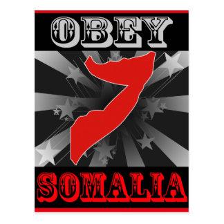 Befolgen Sie Somalia Postkarte