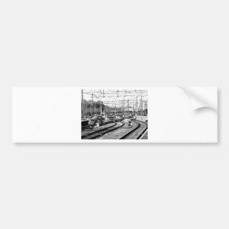Befördert Weise mit der Eisenbahn Autoaufkleber