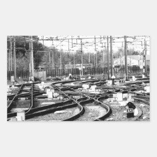 Befördert Weise mit der Eisenbahn Rechteckiger Aufkleber