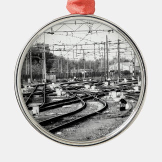 Befördert Weise mit der Eisenbahn Silbernes Ornament