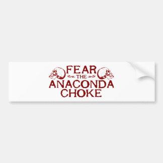 Befürchten Sie die Anaconda-Drosselklappe Autoaufkleber
