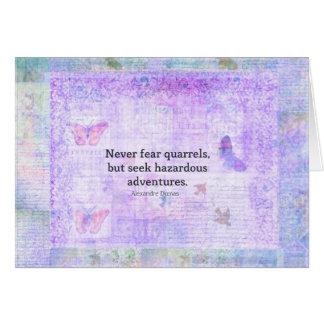 Befürchten Sie nie Streite, aber suchen Sie Karte
