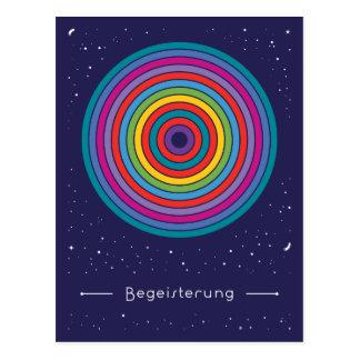 Begeisterung Postkarte