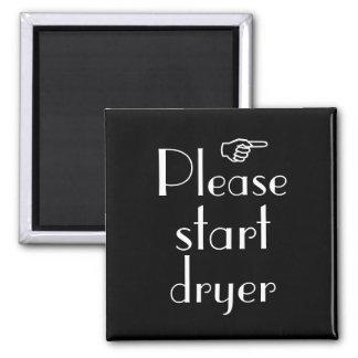 Beginnen Sie bitte trockenere Magnetschablone Kühlschrankmagnet