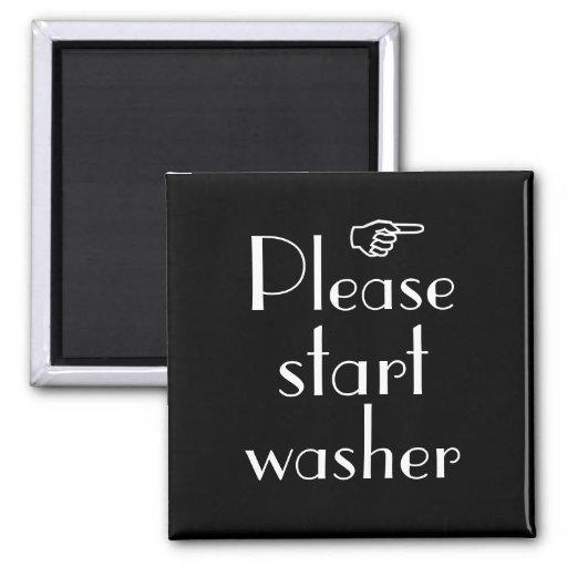 Beginnen Sie bitte Waschmaschinenmagnetschablone Kühlschrankmagnete