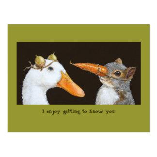 Beginnen, Sie zu kennen Postkarte