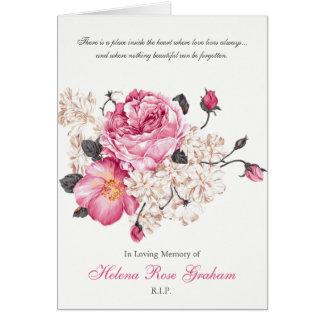 Begräbnis danken Ihnen, Vintage Rosen zu kardieren Karte