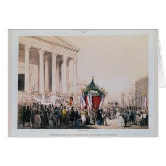 Begräbnis der Opfer des La Madeleine Grußkarte