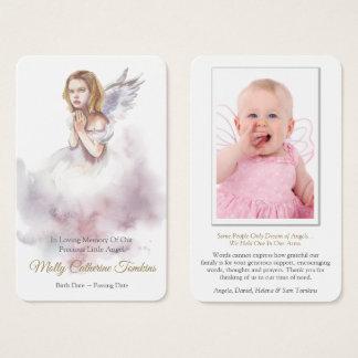 Begräbnis- schöner Engel der Gebets-Karten-  Visitenkarte