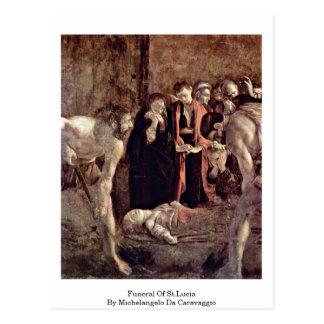 Begräbnis von St Lucia durch Michelangelo DA Postkarte