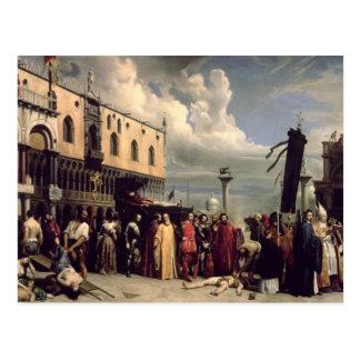 Begräbnisehren gegeben Titian, der in Venic starb Postkarte