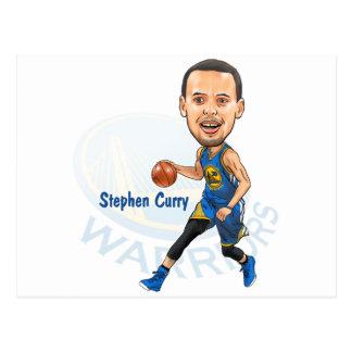Begrenzte Ausgabe - Curry-Karikatur-Postkarte Postkarte