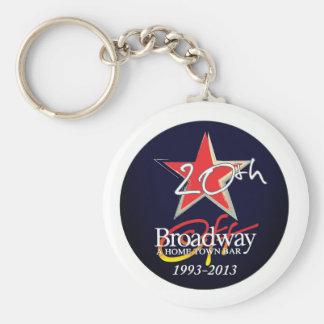 Begrenzte Ausgabe weg von Broadway 20. anniv. Schlüsselanhänger