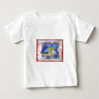 Begrenzte Ausgaben-blaues Blumen Hawaiis Baby T-shirt