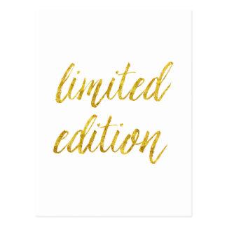 Begrenzte Ausgaben-Zitat-Imitat-Goldfolie zitiert Postkarte