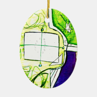 BegriffsFlugzeug Ovales Keramik Ornament