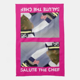 """Begrüßen Sie das Kochs-Rosa-Küchen-Tuch 16"""" x 24"""" Handtuch"""