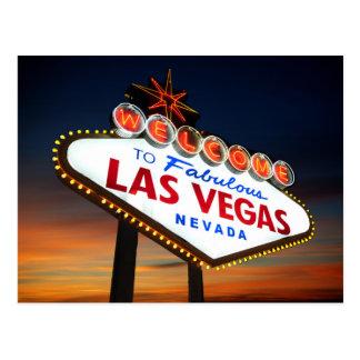Begrüßen Sie nach fabelhaftes Las Vegas Nevada Postkarten