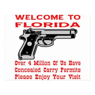 Begrüßen Sie zu Florida, das 4 Million von uns Postkarte