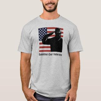 Begrüßung unseres Veteranen-Soldaten u. T-Shirt