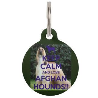 behalten Sie AfghanenHundeplakette der Ruhe und Haustiermarke