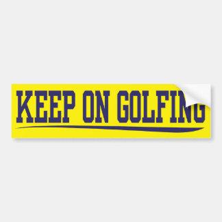 behalten Sie auf dem Golf spielen Autoaufkleber