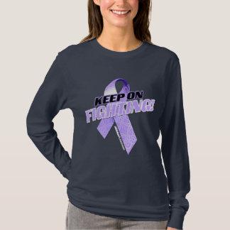 Behalten Sie auf dem Kämpfen Alzheimer T-Shirt