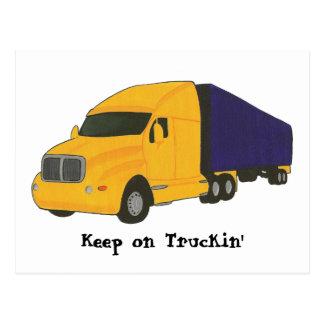 Behalten Sie auf Truckin', LKW auf Postkarten