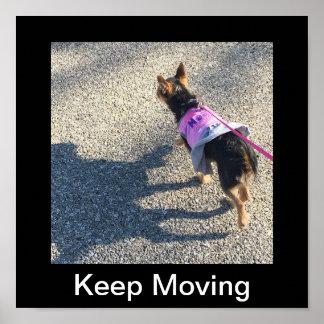 Behalten Sie bewegliches Plakat