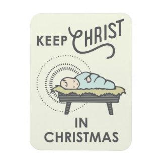 Behalten Sie Christus im Weihnachtsmagneten Magnet