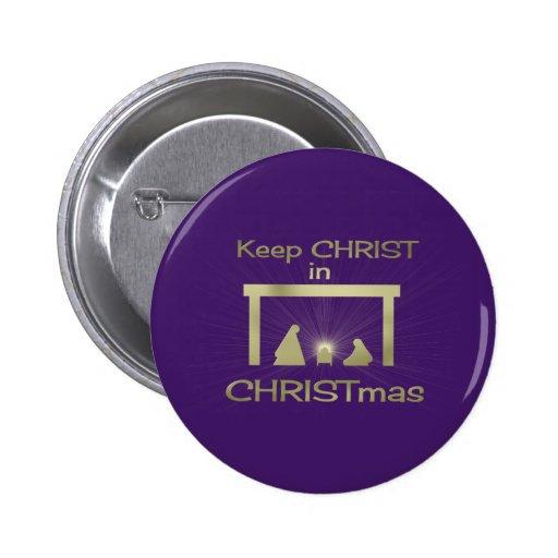 Behalten Sie Christus in den Anstecknadel