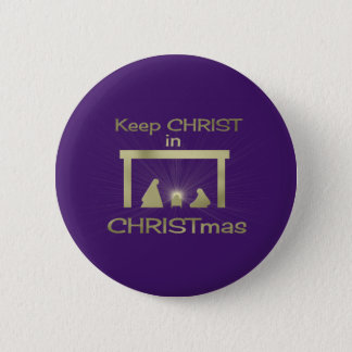 Behalten Sie Christus in den Runder Button 5,1 Cm