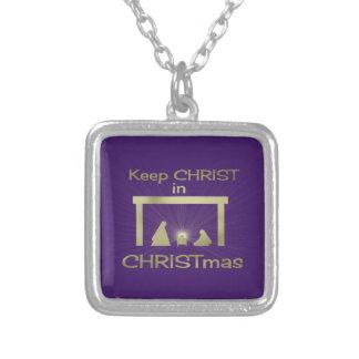 Behalten Sie Christus in den Weihnachtshalsketten Versilberte Kette