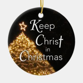 Behalten Sie Christus in der Weihnachtsverzierung, Keramik Ornament