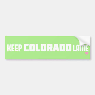 Behalten Sie Colorado-Lamé Autoaufkleber