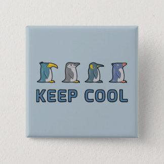 Behalten Sie coolen Penguins-Knopf Quadratischer Button 5,1 Cm