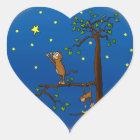 Behalten Sie das Erreichen der Affe-Aufkleber Herz-Aufkleber